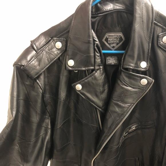 244d478a8 Diamond Plate Other - Men s Diamond Plate Buffalo Leather Biker Jacket